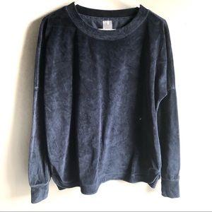Calia by Carrie Underwood Blue Velvet Sweatshirt